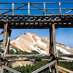 Idarado Mine Train Trestle and Red Mountain #3, Red Mountain Pass, Colorado