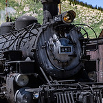 Locomotive, Historic Durango and Silverton Narrow Gauge Railroad, Silverton Station, Colorado